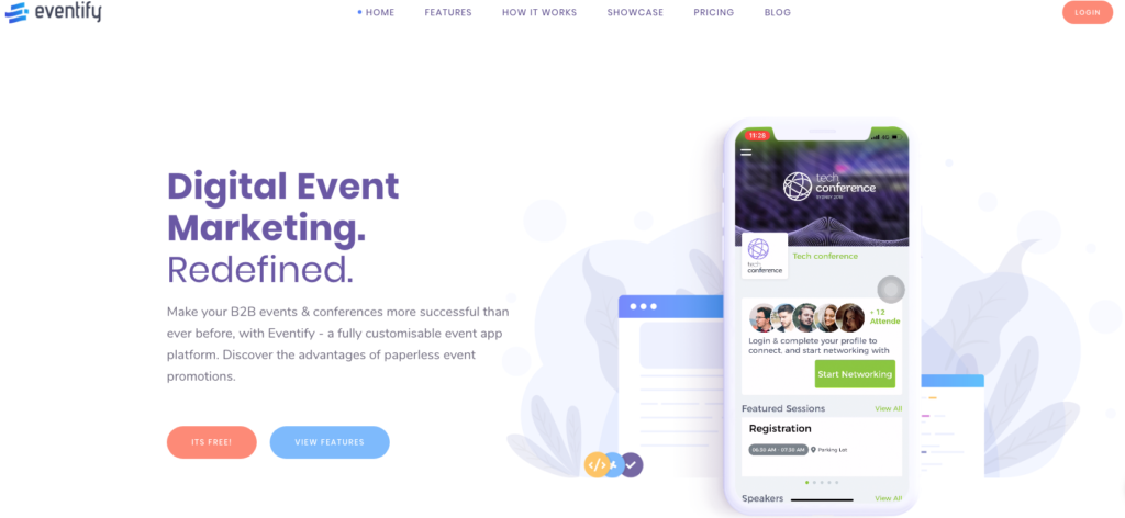 Eventify home page